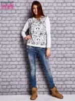 Ecru bluza z motywem kotów                                  zdj.                                  4