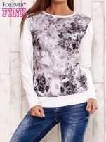 Ecru bluza z motywem roślinnym                                  zdj.                                  1