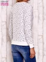 Ecru bluza z nadrukiem kotów                                  zdj.                                  4