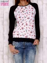 Ecru bluza z nadrukiem pand