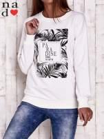 Ecru bluza z napisem PARADISE                                  zdj.                                  1