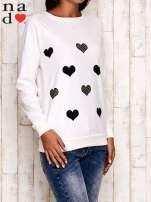 Ecru bluza z serduszkami                                  zdj.                                  3