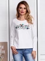 Ecru bluzka z kwiatowym haftem                                  zdj.                                  1