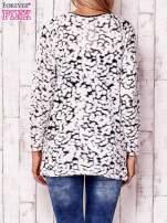 Ecru cienki sweter w abstrakcyjne wzory                                  zdj.                                  4