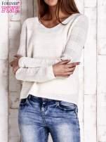 Ecru dziergany sweter                                   zdj.                                  1
