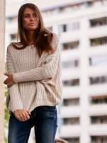 Ecru dziergany sweter oversize FUNK N SOUL                                  zdj.                                  1
