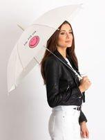 Ecru parasol półautomatyczny                                  zdj.                                  1