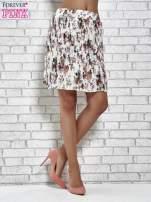 Ecru plisowana spódnica w kwiaty                                  zdj.                                  3