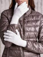 Ecru rękawiczki z długim ściągaczem