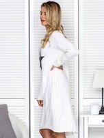 Ecru sukienka z gwiazdą                                   zdj.                                  5