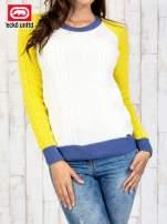 Ecru sweter o szerokim splocie