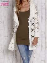 Brązowy sweter  z wiązaniem w pasie                                                                          zdj.                                                                         7