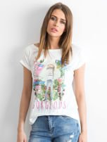 Ecru t-shirt Gorgeous                                  zdj.                                  1