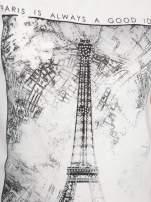 Ecru t-shirt z nadrukiem wieży Eiffla                                  zdj.                                  8