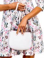 Ecru torba listonoszka z ozdobnymi suwakami                                  zdj.                                  4