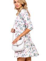 Ecru torba listonoszka z ozdobnymi suwakami                                  zdj.                                  5