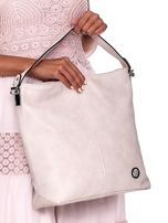 Ecru torba miejska z przeszyciem i drobną fakturą                                  zdj.                                  2