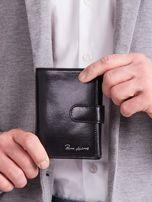 Elegancki pionowy portfel męski czarny                                  zdj.                                  2