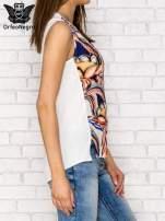 Elegancki top z motywem floral print