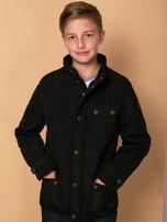 FIRETRAP Czarna pikowana kurtka dla chłopca                                  zdj.                                  1