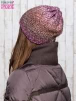 Fioletowa dzianinowa czapka ombre                                                                          zdj.                                                                         3