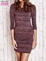 Fioletowa prosta melanżowa sukienka                                   zdj.                                  1