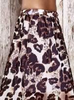 Fioletowa spódnica maxi we wzór panterkowokwiatowy                                  zdj.                                  5