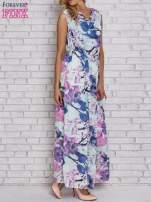 Fioletowa sukienka maxi w kwiaty                                  zdj.                                  3
