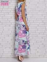 Fioletowa sukienka maxi w kwiaty                                  zdj.                                  2