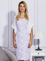 Fioletowa sukienka z luźnymi rękawami                                   zdj.                                  1