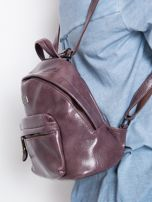 Fioletowy plecak z eko skóry                                  zdj.                                  3