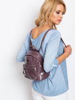 Fioletowy plecak z eko skóry                                  zdj.                                  7