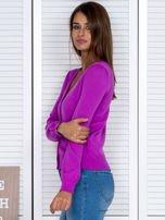 Fioletowy rozpinany sweter                                  zdj.                                  3