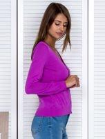Fioletowy rozpinany sweter                                  zdj.                                  5