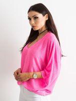 Fluo różowa damska bluzka oversize                                  zdj.                                  3