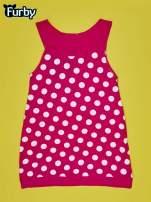 Fuksjowa sukienka w groszki dla dziewczynki FURBY                                  zdj.                                  2