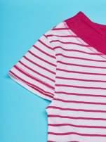 Fuksjowa tunika w paski dla dziewczynki MINNIE MOUSE                                  zdj.                                  3