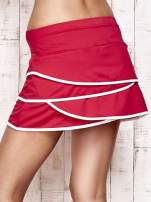 Fuksjowe spodenki spódniczka tenisowa z falbanką