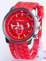 GENEVA Czerwony zegarek męski MILITARY                                  zdj.                                  1