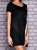 GF FERRE Czarna sukienka z kontrastową wstawką                                  zdj.                                  2