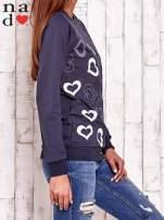 Grafitowa bluza w serduszka                                  zdj.                                  4