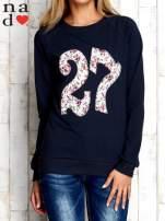 Grafitowa bluza z cyfrą 27