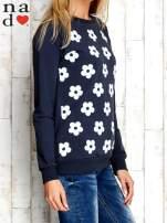 Grafitowa bluza z nadrukiem kwiatów                                                                          zdj.                                                                         3
