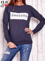 Grafitowa bluza z napisem AWESOME                                  zdj.                                  1