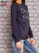 Grafitowa bluza z napisem CHCĘ PSOCIĆ                                  zdj.                                  3