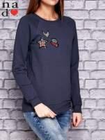 Grafitowa bluza z naszywkami                                  zdj.                                  3