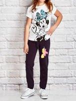 Grafitowe spodnie dresowe dla dziewczynki z jednorożcem                                  zdj.                                  4