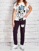 Grafitowe spodnie dresowe dla dziewczynki z napisem FOLLOW MY FEET                                  zdj.                                  4