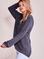 Grafitowy luźny sweter                                   zdj.                                  8