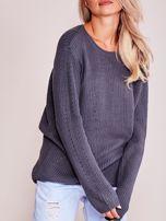 Grafitowy luźny sweter                                   zdj.                                  9
